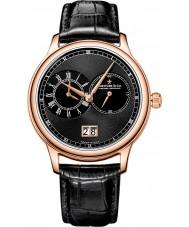 Dreyfuss and Co DGS00122-04 Reloj para hombre de doble tiempo con correa de grano del croco negro