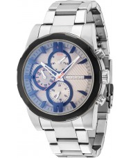 Police 14541JSTB-13M Mens matchcord reloj de plata brazalete de acero