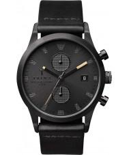 Triwa LCST105-CS010113 Una especie de reloj Chrono correa de cuero negro