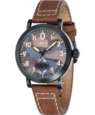 AVI-8 AV-4020-06 reloj de la correa de cuero marrón para hombre del bombardero Lancaster