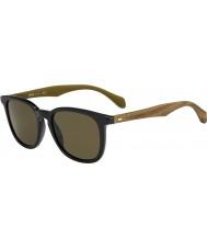 HUGO BOSS Mens jefe 0843-s RBG ec negro gafas de sol marrones