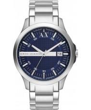 Armani Exchange AX2132 pulsera de reloj del vestido azul de plata de los hombres