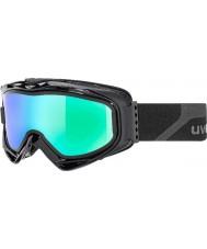 Uvex 5502132126 G.gl 300 despegar negro mate - gafas de espejo de esquí de color verde con lente de reemplazo humo azul