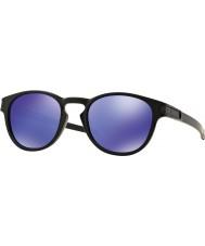 Oakley Oo9265-06 mate de retención negro - violeta gafas de sol de iridio