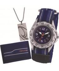Kahuna AKKS-0001M Niños set de regalo - reloj de velcro con placa de identificación y el conjunto de la cartera