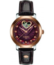 Roamer 556661-49-69-05 reloj de la correa de cuero marrón dama amor