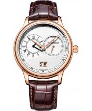 Dreyfuss and Co DGS00122-06 Reloj para hombre de la hora dual con la correa de grano del croco marrón