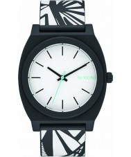 Nixon A119-2218 Mens tiempo cajero p reloj lejía negro