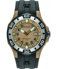 Swiss Military 6-4292-24-024-07 Mens bermudas reloj correa de silicona negro
