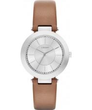 DKNY NY2293 Damas Stanhope 2.0 mate reloj de la correa de cuero marrón