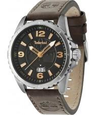 Timberland 14531JS-02 Mens walden reloj de la correa de cuero marrón