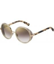 Jimmy Choo Señoras andie-s j7a nh oro desnudos gafas de sol de espejo de oro Habana