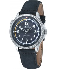 AVI-8 AV-4018-03 Mens Hawker Hurricane reloj correa de cuero azul oscuro