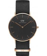 Daniel Wellington DW00100150 reloj de 36 mm de Cornualles negro clásico
