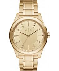 Armani Exchange AX2321 vestido de oro de los hombres plateado reloj pulsera