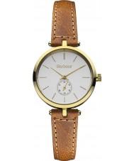 Barbour BB011GDTN Señoras del reloj de la correa de cuero marrón Lisle