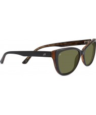 Serengeti Sophia negro brillante gafas de sol polarizadas 555nm