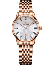 Dreyfuss and Co DLB00138-41 Señoras 7 enlaces chapado en oro rosa reloj pulsera