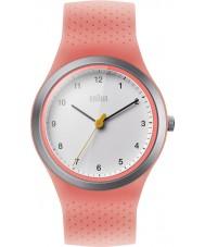 Braun BN0111WHPKL Señoras de los deportes del reloj de la correa de silicona de neón del melocotón