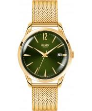Henry London HL39-M-0102 Damas chiswick reloj de oro Hamilton verde musgo