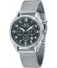 AVI-8 AV-4025-12 Mens supermarine plata seafire reloj cronógrafo de malla