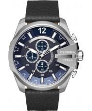 Diesel DZ4423 Mega jefe de reloj cronógrafo de cuero negro para hombre