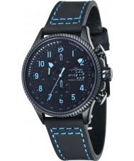 AVI-8 AV-4036-04 reloj cronógrafo para hombre negro Hawker Hunter con correa de nylon extra azul