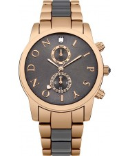 Lipsy LP358 Damas grises se elevaron reloj en dos tonos de oro