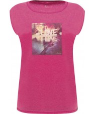Dare2b DWT327-1Z016L Damas reparador rosa eléctrico camiseta - el tamaño de uk 16 (XL)