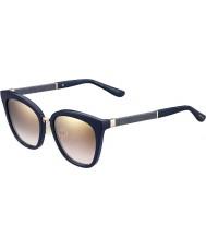Jimmy Choo Señoras de Fabry-s KCA nh azul brillantes gafas de sol de espejo de oro