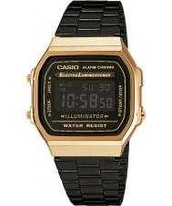 Casio A168WEGB-1BEF colección para hombre de acero negro reloj pulsera