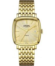 Rotary GB05308-03 Mens relojes Windsor champagne oro reloj plateado