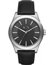 Armani Exchange AX2323 reloj de la correa de cuero negro vestido de los hombres