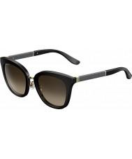 Jimmy Choo Señoras de Fabry-s gafas de sol brillantes negro j6 FA3