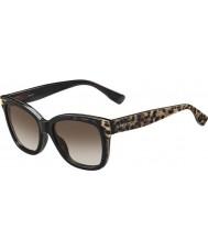 Jimmy Choo Señoras bebi-s pue j6 gafas de sol negros de origen animal