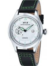 AVI-8 AV-4016-01 Mens Hawker Hurricane reloj correa de cuero verde oscuro