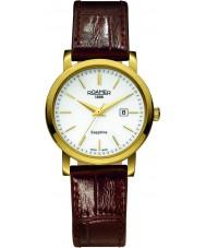 Roamer 709844-48-25-07 Mens línea clásica correa de reloj de cuero marrón