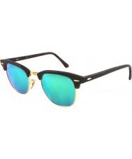RayBan RB3016 51 clubmaster arena concha de oro-114519 gafas de sol de espejo verde
