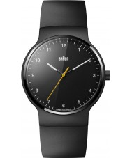 Braun BN0221BKBKG prestigio para hombre negro de goma delgada correa de reloj