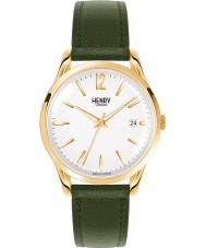 Henry London HL39-S-0098 blanco reloj de color verde musgo Chiswick