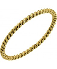 Nordahl Jewellery 125229-52 Las señoras anillo chapado en oro dorado espiral - Talla L