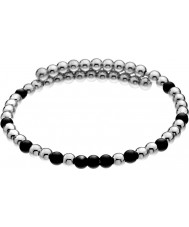 Emozioni DC151 Damas negro y plata chapada envolver brazalete