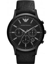 Emporio Armani AR2461 Reloj para hombre negro clásico cronógrafo