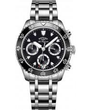 Rotary GB90170-04 Mens relojes legado reloj cronógrafo de plata