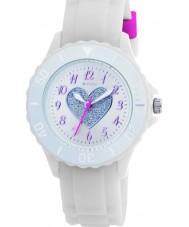 Tikkers TK0034 Cabritos del reloj de goma blanca