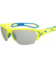 Cebe S-track pro grandes gafas de sol de neón amarilla Perfo variochrom