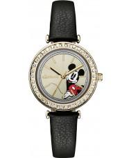 Disney by Ingersoll ID00301 Señoras de la unión de cuero negro reloj de la correa