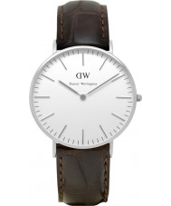Daniel Wellington DW00100055 Damas clásico reloj de plata york 36mm