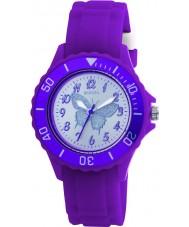 Tikkers TK0035 Cabritos del reloj de goma púrpura