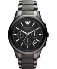 Emporio Armani AR1452 Para hombre reloj cronógrafo negro de cerámica